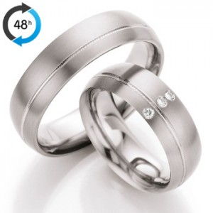 Anillo de Boda de 0,03 ct y 5 mm thumbnaill