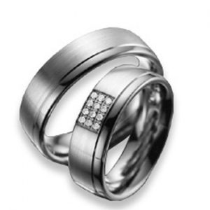 Anillo de 0,06 ct y 7 mm thumbnaill