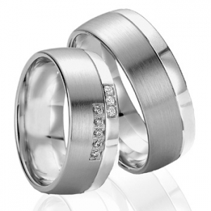 Anillo de Boda de 0,08 ct y 8 mm thumbnaill